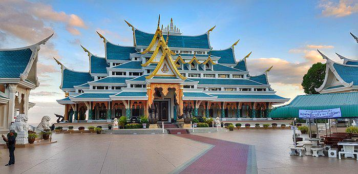 Wat Pa Phu Kon, Buddhist, Temple, Northern, Thailand