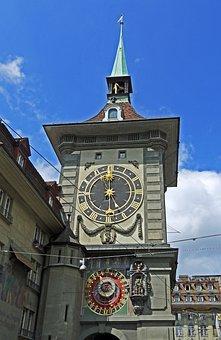 Bern, Zytglogge, Old Town, Kramgasse, Clock