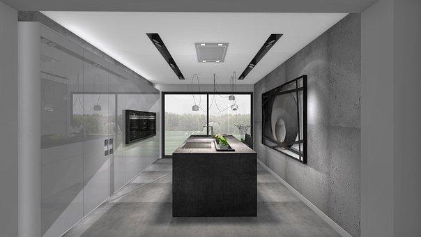 Modern, Under The Roof, Inside, Room, Window, Furniture
