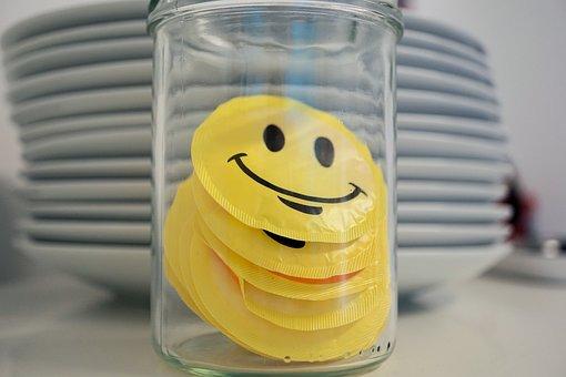 Plate, Glass, Essteller, Cover, Smile, Yellow