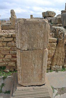 Latin Writing, Timgad, Batna, Algeria