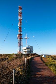 Helgoland, Radio Mast, Transmission Tower, Travel, Sky