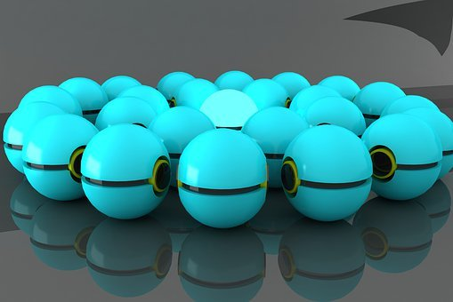 Balls 3d, Colored Beads, 3d Rendering, Color, Modeling