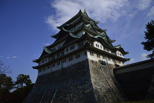 Architecture, Castle, Sky, Old, Travel, Nagoya, Japa