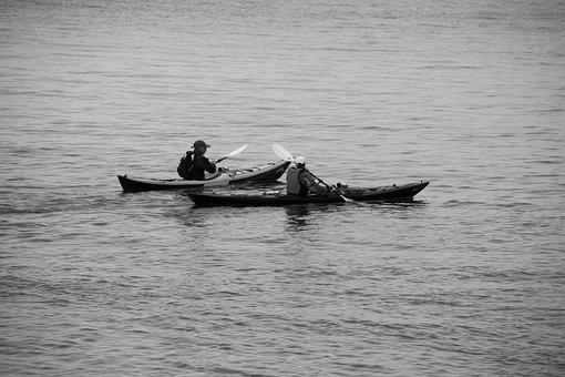 Boat, Body Of Water, Transport, Sea, Canoe, Characters