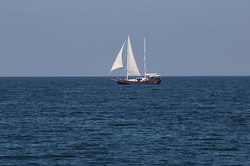 Sailboat, Sea, Water, Sail, Ship, Yacht, Ocean, Boat