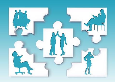 Team, Silhouettes, Personal, Businessmen, Businessman