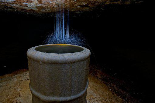 Mine, Underground, Tin, Water, Potholing, Calcite