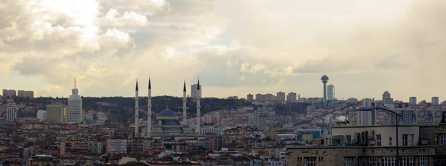Panoramic, City, Architecture, Travel, Panorama, Sky
