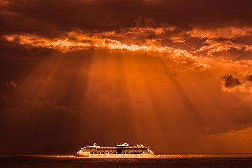 Sky, Sea, Boat, Cloud, Cloudy Sky, Cloud Sunny, Cloudy