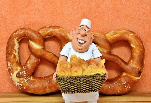 Baker, Master Baker, Bakery, Figure, Doll, Deco