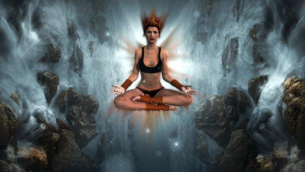 Fantasy, Girl, Meditation, Yoga, Mystical, Atmospheric