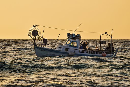 Fishing Boat, Sea, Fishing, Traditional, Afternoon