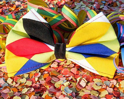 Tie, Fly, Carnival, Loop, Colorful, Funny, Masquerade