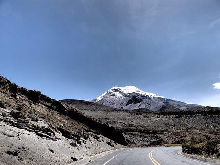 Mountain, Ecuador, Chimborazo, Way, Travel, Landscape