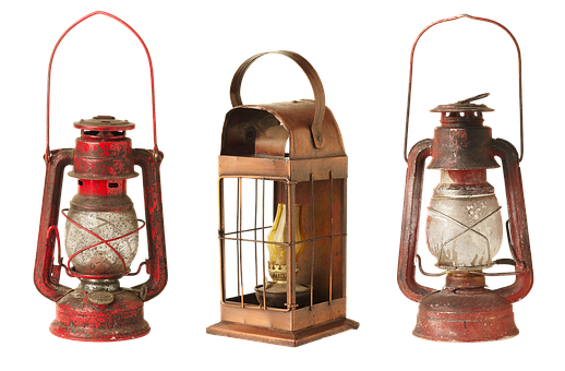 Lantern, Lamp, Old, Kerosene Lamps, Lights, Old Things