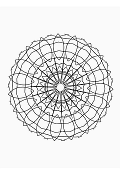 Drawing, Hand Drawn, Mandala, Artwork, Coloring Page