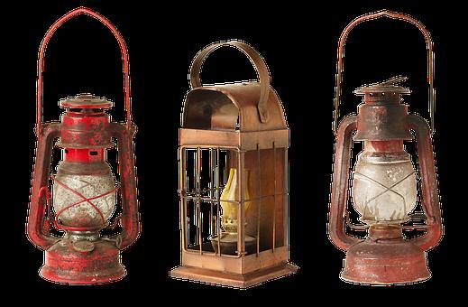 Lantern, Lamp, Old, Kerosene Lamps, Lights, Old Things