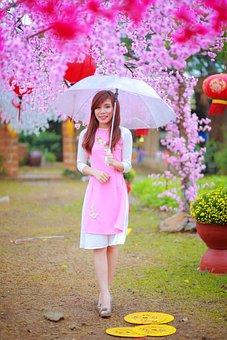 Flower, Nature, Summer, Beautiful, Girl, Outdoors, Park