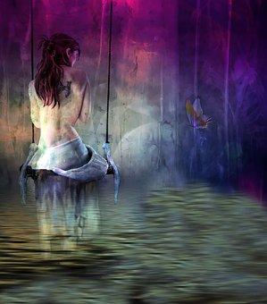 Digital Creation, Fantasy, Reflection, Romance