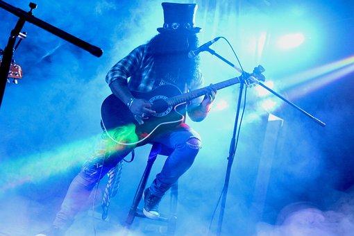 Rock, Guitar, Music, Instrument, Guitarist, Ropes