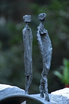 Nature, Cold, Sculpture, Pair, Abstract