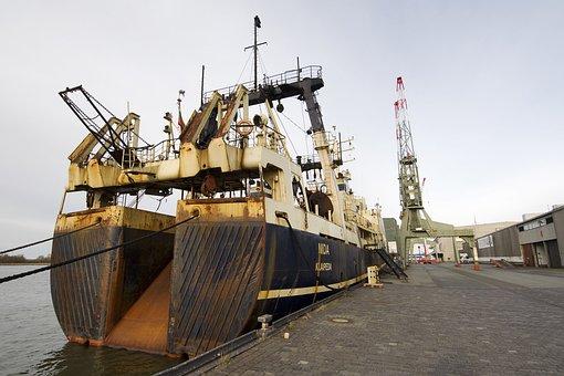Ship, Port, Bremerhaven, Cutter, Waters, Sea, Pier