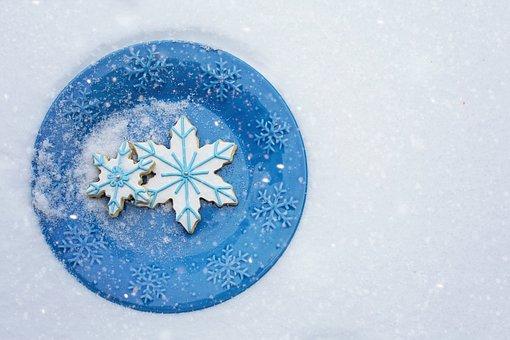 Snowflake Cookies, Cookies, Treat, Snack, Winter