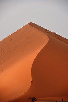 Desert, Dune, Sossusvlei, Africa, Namibia