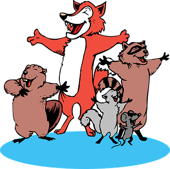 Animals, Mouse, Singing, Beaver, Fox, Squirrel, Comedy