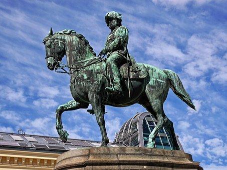 Sculpture, Statue, Cavalry, Reiter, Bronze Sculpture