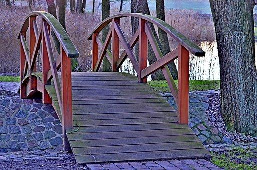 Park, Bridge, The Brook