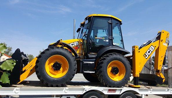 Machine, Tracto-shovel, Heavy, Transport, Btp