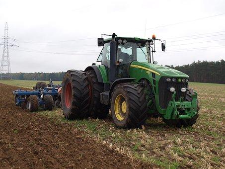 Tractor, Soil, Machine, Farm, Plow, Harrowing, Harrow