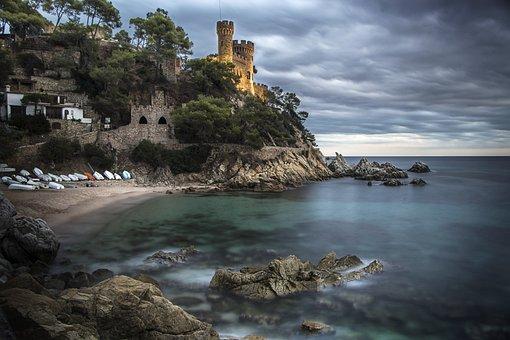 Water, Seashore, Sea, Travel, Rock, Castle, Beach