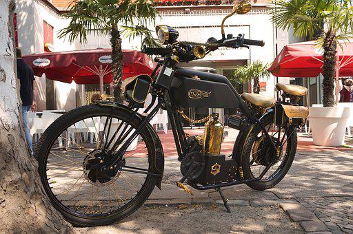 Wheel, Transport System, Motorcycle, Vintage, Classic