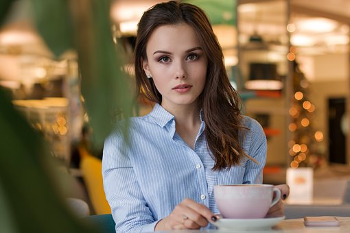 Woman, Grown Up, Within, People, Coffee, Portrait