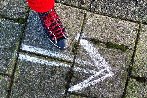 Foot, Shoe, Sneaker, Woman Shoe, Step, Walking