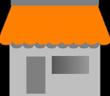 House, Awning, Building, Café, Shop, Store, Front