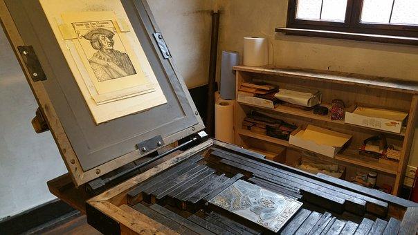 Printing Press, Dürer, Nuremberg, Middle Ages