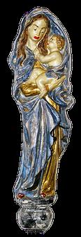 Madonna, Maria, Maria With A Child, Ceramic, Figure