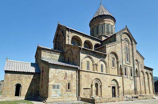 Caucasus, Georgia, Mtskheta, Svetitskhoveli Cathedral