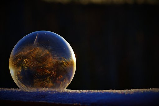 Bubble, Frozen, Ice, Winter, Color, Sphere, Icy