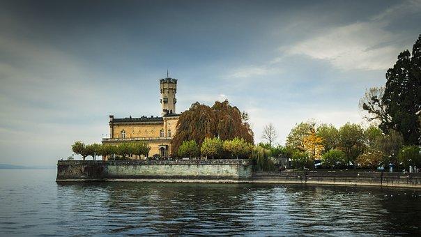 Castle Montfort, Langenargen, Lake Constance, Waters