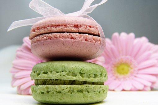 Macaron, Gerbera, Loop Tape, Pink, Light Green, Sugar