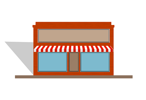 Awning, Store, Front, Shop, Retail, Business, Market