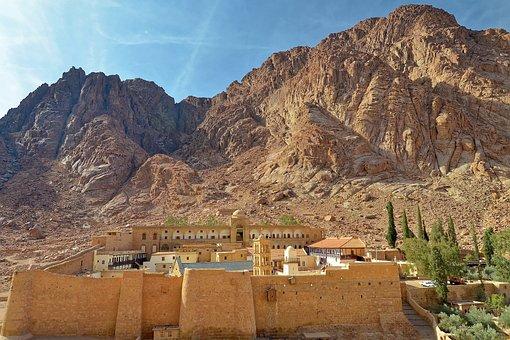 Egypt, Sinai, St Catherine's Monastery, Mountain