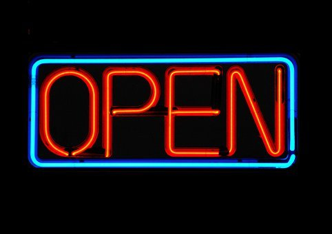 Open Sign, Neon, Signalise, Graphic Design, Business