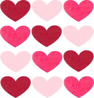 Valentine, Valentine's Day, Hearts, Fabric, Pink, Pale