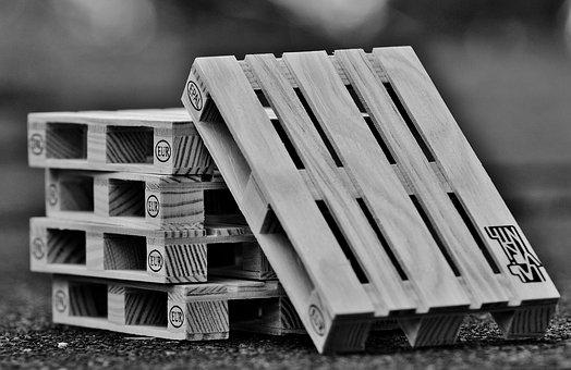 Pallets, Euro Pallets, Wood, Stack, Stacked, Industry